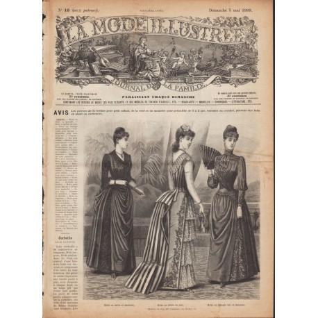 Complete magazine La Mode Illustrée 1889 N°18