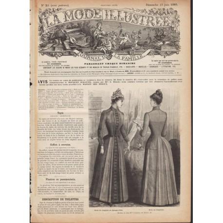 Revue complète de La Mode Illustrée 1889 N°25