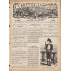 Complete magazine La Mode Illustrée 1889 N°27
