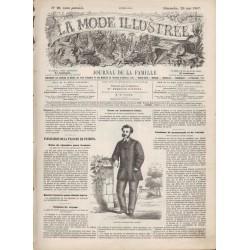 Complete magazine La Mode Illustrée 1867 N°21