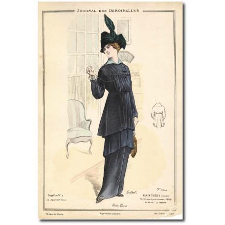 Gravure Journal des Demoiselles 1914 5244