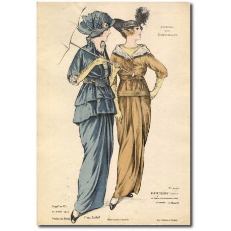 Gravure Journal des Demoiselles 1914 5256