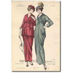 Gravure Journal des Demoiselles 1914 5261