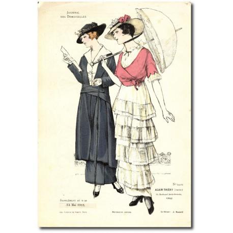 Gravure Journal des Demoiselles 1915 5275