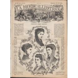 Complete magazine La Mode Illustrée 1869 N°16