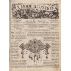 Complete magazine La Mode Illustrée 1861 N°01