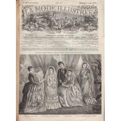 Complete magazine La Mode Illustrée 1875 N°10