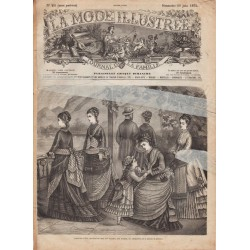 Complete magazine La Mode Illustrée 1875 N°25