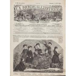 Complete magazine La Mode Illustrée 1875 N°27