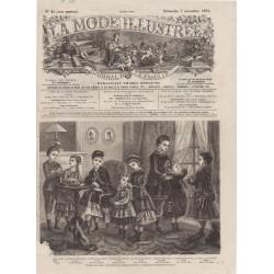 Complete magazine La Mode Illustrée 1875 N°45