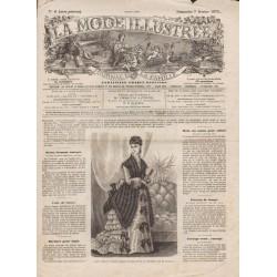 Complete magazine La Mode Illustrée 1875 N°06