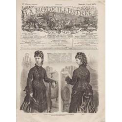 Complete magazine La Mode Illustrée 1875 N°16