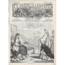 Complete magazine La Mode Illustrée 1871 N°22