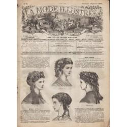 Complete magazine La Mode Illustrée 1869 N°02