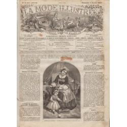 Complete magazine La Mode Illustrée 1870 N°06