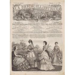 Complete magazine La Mode Illustrée 1870 N°34
