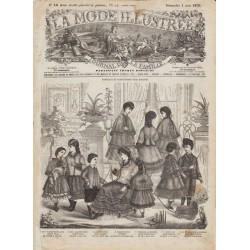 Complete magazine La Mode Illustrée 1870 N°18