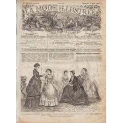 Complete magazine La Mode Illustrée 1870 N°14