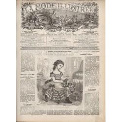 Complete magazine La Mode Illustrée 1871 N°03