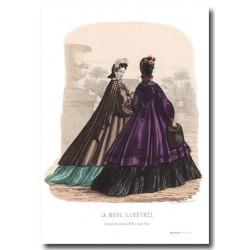 Gravure La Mode Illustrée 1862 52