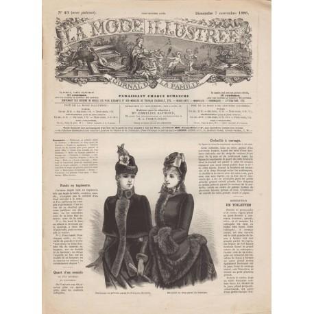 Complete magazine La Mode Illustrée 1886 N°45