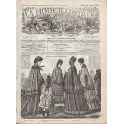 Complete magazine La Mode Illustrée 1871 N°12