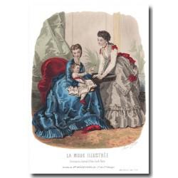 Gravure La Mode Illustrée 1870 11