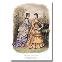 Gravure La Mode Illustrée 1870 23