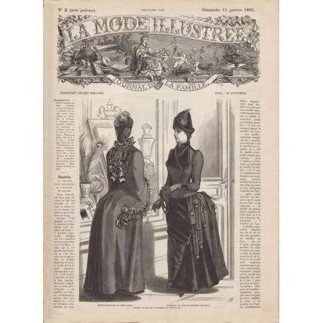 Complete magazine La Mode Illustrée 1885 N°02
