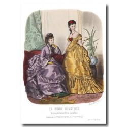 Gravure La Mode Illustrée 1870 46