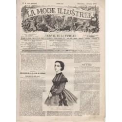 Complete magazine La Mode Illustrée 1866 N°06