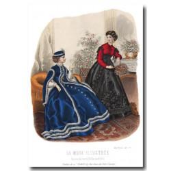 Gravure La Mode Illustrée 1867 2
