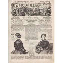 Complete magazine La Mode Illustrée 1866 N°18