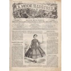 Complete magazine La Mode Illustrée 1866 N°21