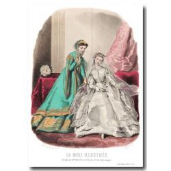 Gravure La Mode Illustrée 1867 37