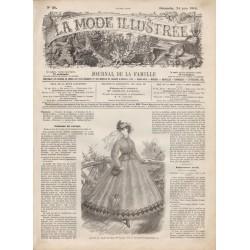 Complete magazine La Mode Illustrée 1866 N°26