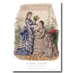 Gravure La Mode Illustrée 1873 25