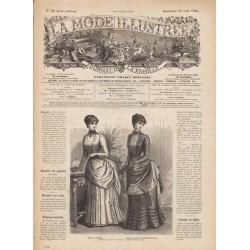 Complete magazine La Mode Illustrée 1884 N°35