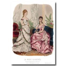 Gravure La Mode Illustrée 1876 10