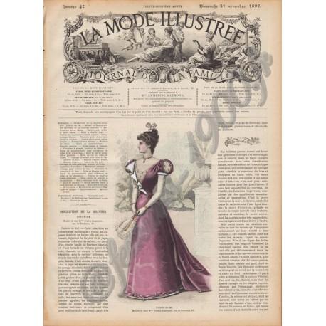 Complete magazine La Mode Illustrée 1897 N°47