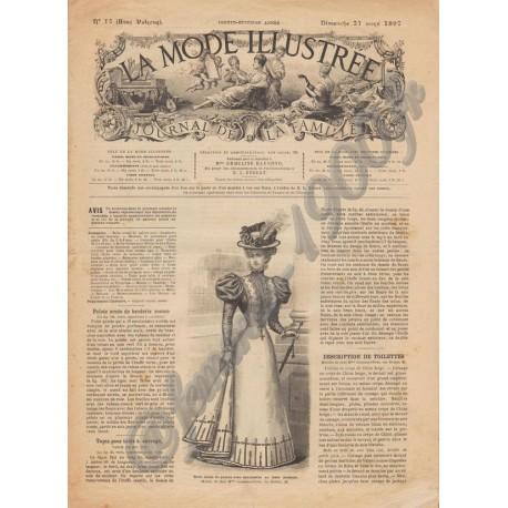 Revue complète de La Mode Illustrée 1897 N°12