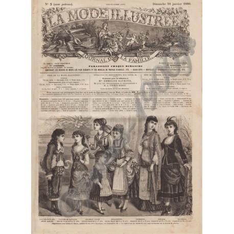 Complete magazine La Mode Illustrée 1880 N°03