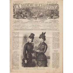 Complete magazine La Mode Illustrée 1880 N°10