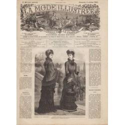 Complete magazine La Mode Illustrée 1880 N°40