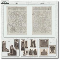 Sewing patterns La Mode Illustrée 1881 N°01