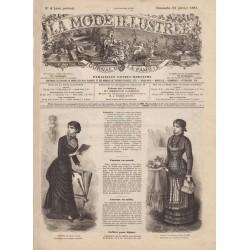 Complete magazine La Mode Illustrée 1881 N°04