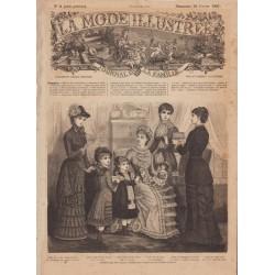 Complete magazine La Mode Illustrée 1881 N°08