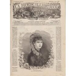 Complete magazine La Mode Illustrée 1881 N°19