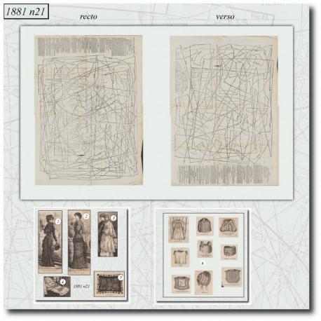 Sewing patterns La Mode Illustrée 1881 N°21