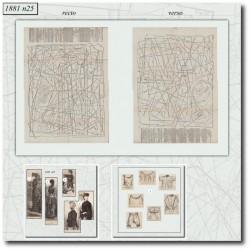 Sewing patterns La Mode Illustrée 1881 N°25